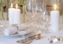 Размещение бокалов и фужеров на столе
