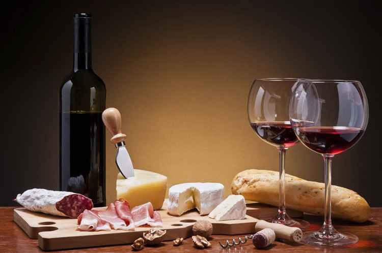 К чему подают вино - сочетание