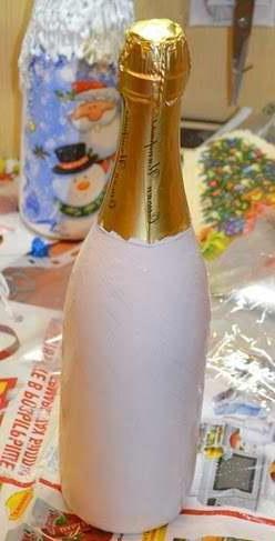 Декупаж бутылки шампанского-1
