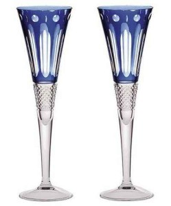 Бокалы для шампанского из цветного хрусталя