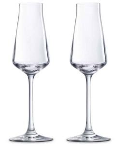 Бокалы для шампанского ломаной формы