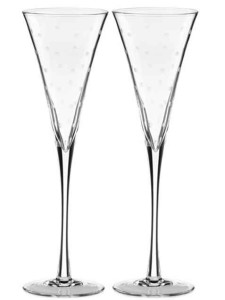 Бокалы для шампанского дизайнерской формы