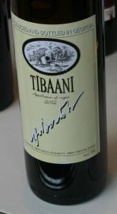 Тибаани - белое столовое грузинское вино