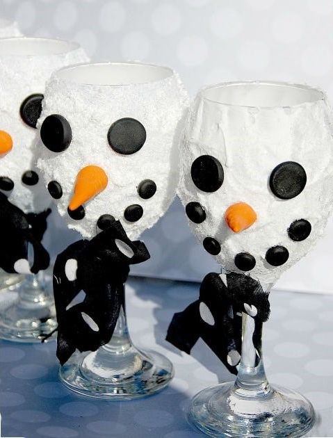 Бокал-снеговик