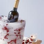 Новогодняя сервировка шампанского - ледяное ведерко